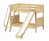 Maxtrix HAPPY Medium Bunk Bed w/ Slide Twin Size Natural | Maxtrix Furniture | MX-HAPPY-NX