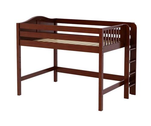 Maxtrix HIP Mid Loft Bed Full Size Chestnut   Maxtrix Furniture   MX-HIP-CX