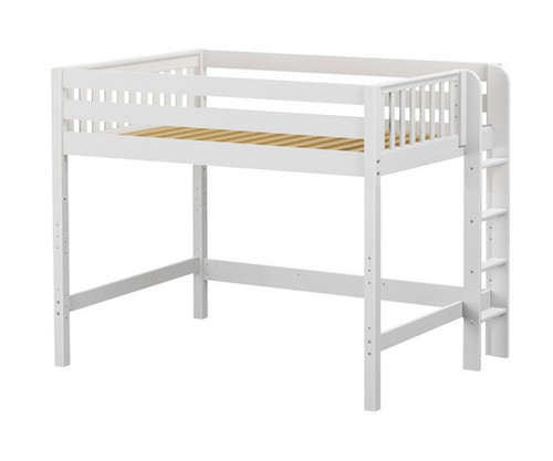 Maxtrix HIP Mid Loft Bed Full Size White | Maxtrix Furniture | MX-HIP-WX