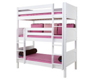 Maxtrix HOLY Triple Bunk Bed Twin Size White | Maxtrix Furniture | MX-HOLY-WX