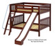 Maxtrix HOORAY Medium Bunk Bed w/ Slide Full Size Chestnut | 26360 | MX-HOORAY-CX