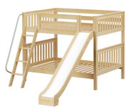 Maxtrix HOORAY Medium Bunk Bed w/ Slide Full Size Natural | Maxtrix Furniture | MX-HOORAY-NX