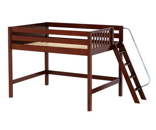 Maxtrix HOP Mid Loft Bed Full Size Chestnut | Maxtrix Furniture | MX-HOP-CX