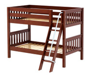 Maxtrix HOTHOT Low Bunk Bed Twin Size Chestnut | Maxtrix Furniture | MX-HOTHOT-CX