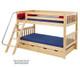 Maxtrix HOTHOT Low Bunk Bed Twin Size Natural   Maxtrix Furniture   MX-HOTHOT-NX