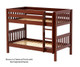 Maxtrix HOTSHOT Low Bunk Bed Twin Size Chestnut | 26370 | MX-HOTSHOT-CX