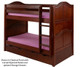 Maxtrix HOTSHOT Low Bunk Bed Twin Size Chestnut | Maxtrix Furniture | MX-HOTSHOT-CX