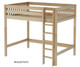 Maxtrix JIBJAB High Loft Bed Twin Size Natural | Maxtrix Furniture | MX-JIBJAB-NX