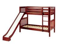 Maxtrix JOLLY Medium Bunk Bed w/ Slide Twin Size Chestnut | Maxtrix Furniture | MX-JOLLY-CX