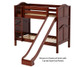 Maxtrix JOLLY Medium Bunk Bed w/ Slide Twin Size Chestnut | Maxtrix Furniture | MX-JOLLY-CX