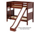 Maxtrix JOLLY Medium Bunk Bed w/ Slide Twin Size Chestnut | 26378 | MX-JOLLY-CX