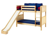 Maxtrix JOLLY Medium Bunk Bed w/ Slide Twin Size Natural | Maxtrix Furniture | MX-JOLLY-NX