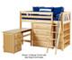Maxtrix KATCHING Mid Loft Bed w/ Storage and Desk Twin Size Chestnut | Maxtrix Furniture | MX-KATCHING3L-CX