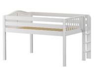 Maxtrix KIT Low Loft Bed Full Size White | Maxtrix Furniture | MX-KIT-WX