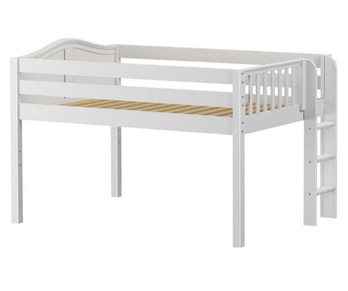 Maxtrix KIT Low Loft Bed Full Size White   Maxtrix Furniture   MX-KIT-WX