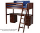 Maxtrix KNOCKOUT High Loft Bed with Desk Twin Size Chestnut | 26414 | MX-KNOCKOUT1-CX