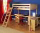 Maxtrix KNOCKOUT High Loft Bed with Desk Twin Size Chestnut | Maxtrix Furniture | MX-KNOCKOUT1-CX