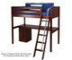 Maxtrix KNOCKOUT High Loft Bed with Desk Twin Size Natural | 26415 | MX-KNOCKOUT1-NX
