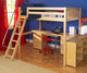 Maxtrix KNOCKOUT High Loft Bed with Desk Twin Size White | Maxtrix Furniture | MX-KNOCKOUT1-WX