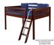 Maxtrix LARGE Low Loft Bed Full Size Chestnut   Maxtrix Furniture   MX-LARGE-CX