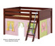 Maxtrix MANSION Low Loft Bed with Curtains Full Size Chestnut 4   26446   MX-MANSION25-CX