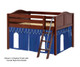 Maxtrix MANSION Low Loft Bed with Curtains Full Size Natural 5   Maxtrix Furniture   MX-MANSION26-NX