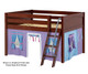 Maxtrix MANSION Low Loft Bed with Curtains Full Size Chestnut 6 | 26450 | MX-MANSION27-CX
