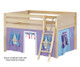 Maxtrix MANSION Low Loft Bed with Curtains Full Size Natural 6 | Maxtrix Furniture | MX-MANSION27-NX