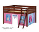Maxtrix MANSION Low Loft Bed with Curtains Full Size Chestnut 7 | 26452 | MX-MANSION28-CX