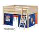 Maxtrix MANSION Low Loft Bed with Curtains Full Size Natural 10   Maxtrix Furniture   MX-MANSION42-NX