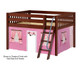 Maxtrix MANSION Low Loft Bed with Curtains Full Size Natural 11   Maxtrix Furniture   MX-MANSION73-NX