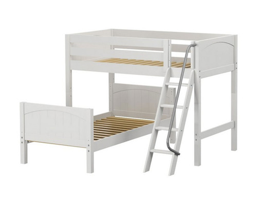 Maxtrix MASH L-Shaped Bunk Bed Twin Size White | Maxtrix Furniture | MX-MASH-WX