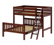 Maxtrix MAX Bunk Bed Twin over Full Size Chestnut | Maxtrix Furniture | MX-MAX-CX