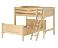 Maxtrix MAX Bunk Bed Twin over Full Size Natural | Maxtrix Furniture | MX-MAX-NX
