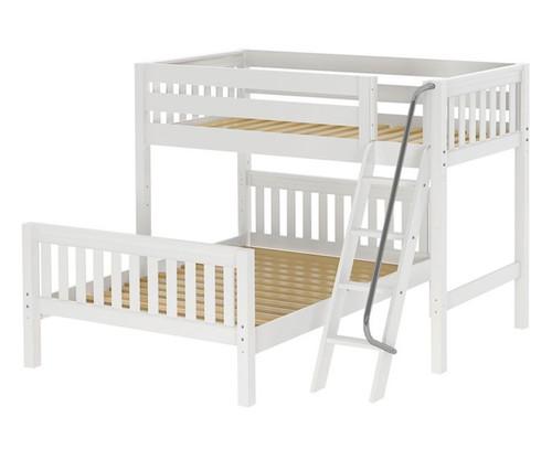 Maxtrix MAX Bunk Bed Twin over Full Size White   Maxtrix Furniture   MX-MAX-WX