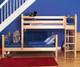 Maxtrix MISH L-Shaped Bunk Bed Twin Size Chestnut   Maxtrix Furniture   MX-MISH-CX
