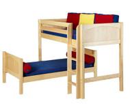 Maxtrix MISH L-Shaped Bunk Bed Twin Size Natural | Maxtrix Furniture | MX-MISH-NX