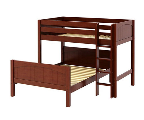 Maxtrix MIX Bunk Bed Twin over Full Size Chestnut   Maxtrix Furniture   MX-MIX-CX