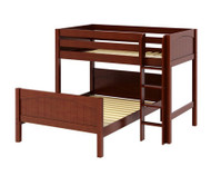 Maxtrix MIX Bunk Bed Twin over Full Size Chestnut | Maxtrix Furniture | MX-MIX-CX