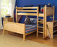 Maxtrix MIX Bunk Bed Twin over Full Size White   Maxtrix Furniture   MX-MIX-WX
