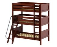Maxtrix MOLY Triple Bunk Bed Twin Size Chestnut   Maxtrix Furniture   MX-MOLY-CX