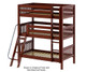 Maxtrix MOLY Triple Bunk Bed Twin Size White | 26488 | MX-MOLY-WX