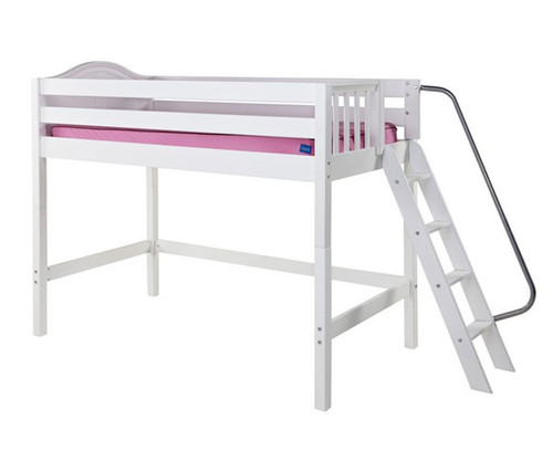 Maxtrix PACK Mid Loft Bed Twin Size White | Maxtrix Furniture | MX-PACK-WX