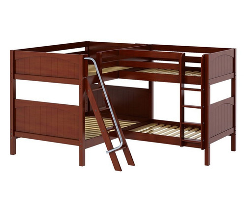 Maxtrix QUADRANT Corner Bunk Bed Full Size Chestnut | Maxtrix Furniture | MX-QUADRANT-CX