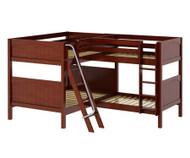 Maxtrix QUADRANT Corner Bunk Bed Full Size Chestnut | Maxtrix Furniture | MX-QUADRANT-CX