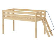Maxtrix RIGHT Low Loft Bed Twin Size Natural | Maxtrix Furniture | MX-RIGHT-NX