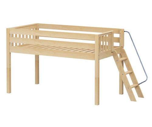 Maxtrix RIGHT Low Loft Bed Twin Size Natural | Maxtrix Furniture | MX-RIGHT-NX