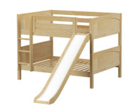 Maxtrix ROCK Low Bunk Bed w/ Slide Full Size Natural | Maxtrix Furniture | MX-ROCK-NX