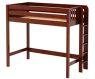 Maxtrix SLAM High Loft Bed Twin Size Chestnut | Maxtrix Furniture | MX-SLAM-CX