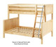 Maxtrix SLOPE Bunk Bed Twin over Full Size Natural | Maxtrix Furniture | MX-SLOPE-NX